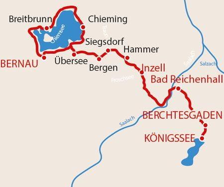 Chiemsee - Königsee Karte