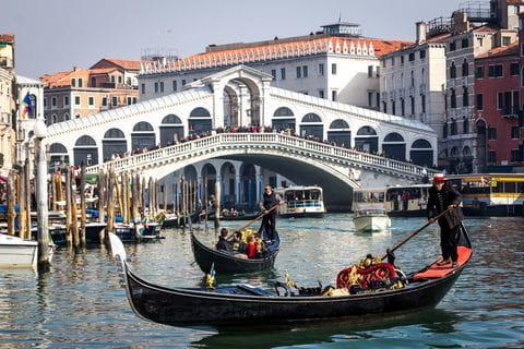 Venetie, Italie, Rialto brug