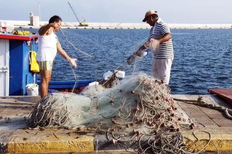 Puglia, Apulie, Italie, vissers
