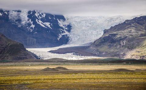 Myrdalsjokull gletsjer, IJsland