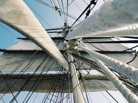 Zeilschip, zeilen