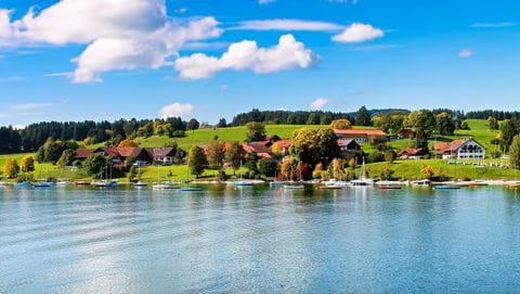 Forggensee, Duitsland, Beieren