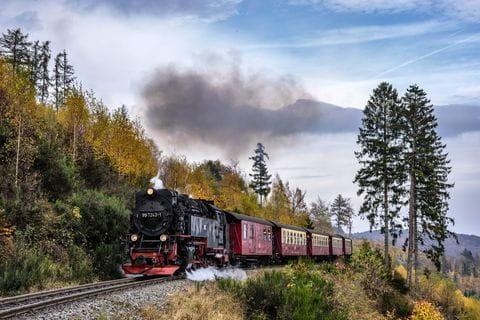 Brockenbahn, Stoomtrein, Harz, Hars, Ostharz, Duitsland, Blocksberg, Hexen