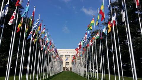 Genève, Zwitserland, Rhone, Verenigde Naties