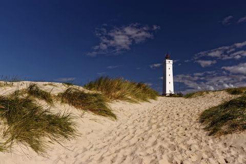 Denemarken, strand, duinen, vuurtoren