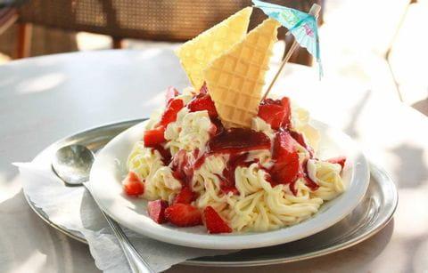 Spaghetti ijs, ijs, toetje