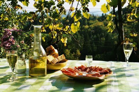 Wijn, Riesling, Duitsland, Lunch, Pauze, Picknick