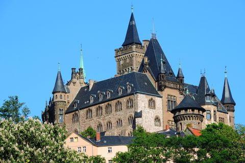 Wernigerode, Schloss, Katseel, Harz, Ostharz, Hars, Duitsland