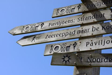 Texel, waddeneilanden, Nederland, wegwijzer