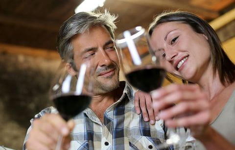 Wijn, genieten, pauze