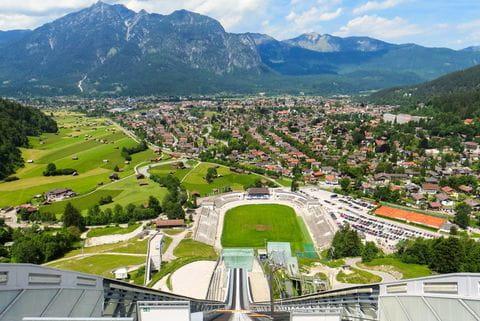 Garmisch Partenkirchen, Beieren, Duitsland, skischans