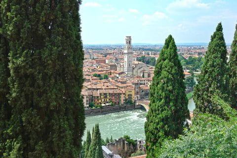 Castel San Pietro, Uitzicht over Verona, Italie