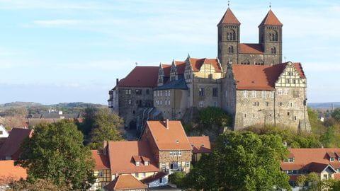 Quedlingburg, Schloss, Kasteel, Harz, Ostharz, Hars, Duitsland