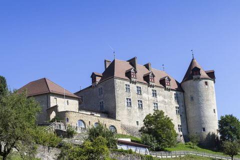 gruyeres, kasteel, zwitserland, gruyère