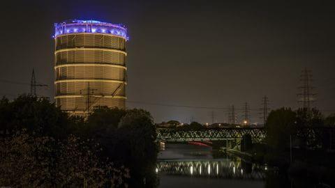 Gasometer, Oberhausen, Duitsland, Ruhr