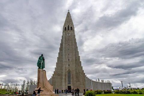 Hallgrimskirkja, Reykjavik, IJsland