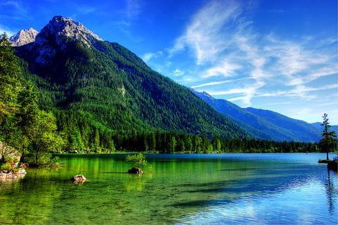 Hintersee, Bergtesgadenland, Oostenrijk, Duitsland