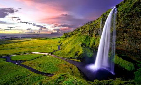 Seljalandsfoss waterval, IJsland