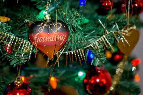 Winter, kerst, kerstmarkt, Duitsland, kerstversiering, kerstbal