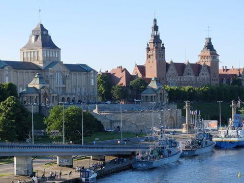 Slot van Stettin, Szczecin, Polen, Oder