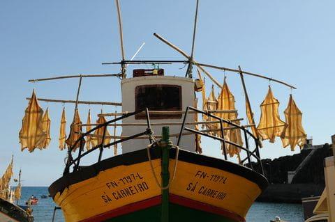 Gedroogde vis, Madeira, Portugal