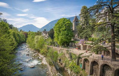 Merano, Italie, Zuid Tirol, Promenade