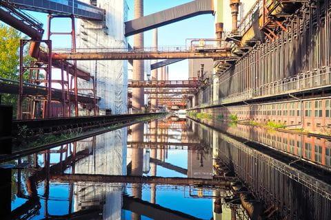 Bochum, Zeche Zollverein mijn, Ruhr, Duitsland