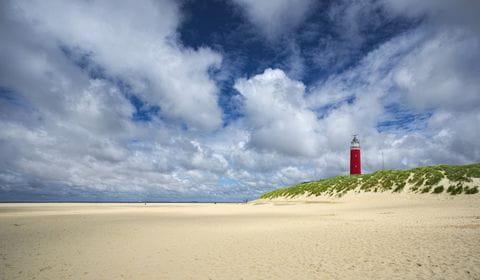 Texel, vuurtoren, strand, waddeneilanden, Nederland