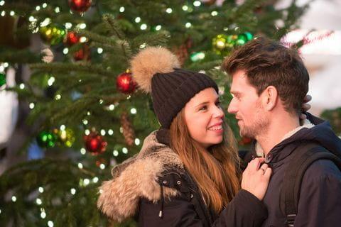 Winter, kerst, kerstmarkt, romantiek