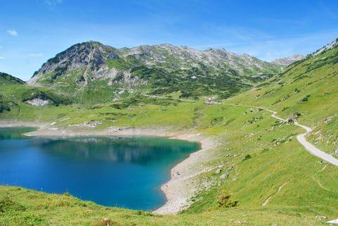 Formarinsee, bron Lech, Lechweg, Oostenrijk