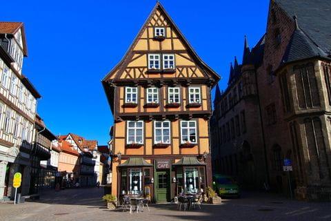 Quedlingburg, Vakwerkhuizen, Harz, Ostharz, Hars, Duitsland