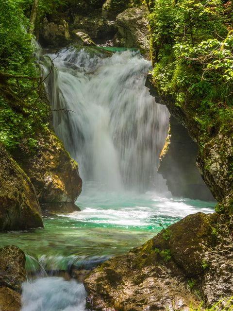Soca, waterval, Slovenie