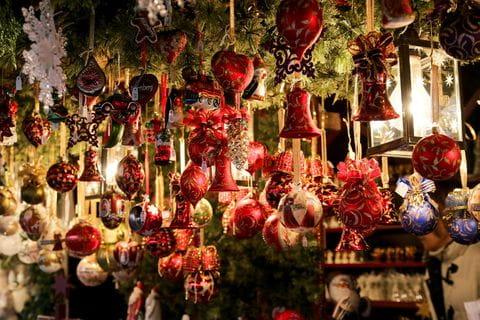 Winter, kerst, kerstmarkt, kerstversiering, kerstbal